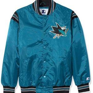 San Jose Sharks STARTER Retro Satin Jacket 6XL
